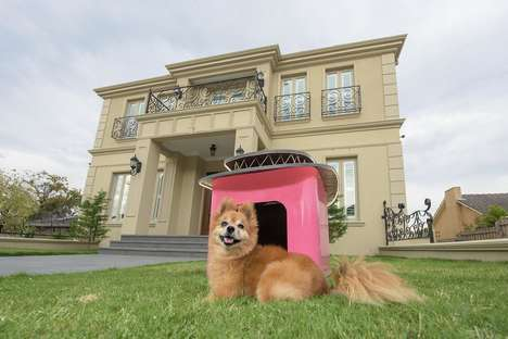 Award-Winning Pet Houses - The La Maision Noire Pet House is Designed to Keep Pets in Comfort