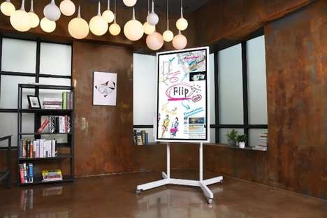 "Digital Flip Chart Displays - The Samsung 'Flip' is Part of its ""Workplace of the Future"" Vision"