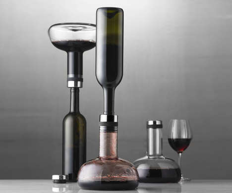 Flipping Wine Aerator Containers
