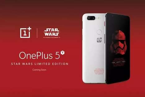 Exclusive Space-Themed Phones - The 'Star Wars' OnePlus 5 Coincides with the Latest Film's Release