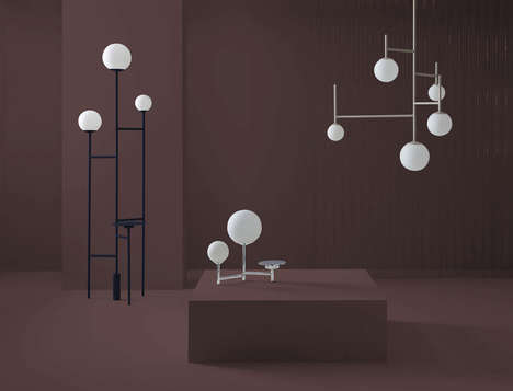 Minimalist Lunar Lighting - agus kim Created a Minimalist Lighting Inspired by the Full Moon