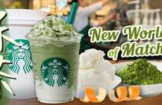 Cheesy Blended Matcha Drinks - Starbucks Japan Unveiled the Matcha & Fruit Mascarpone Frappuccino