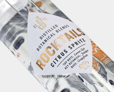 Non-Alcoholic Botanical Drinks - 'Rocktails' are Sophisticated, Sparkling Alcohol-Free Beverages