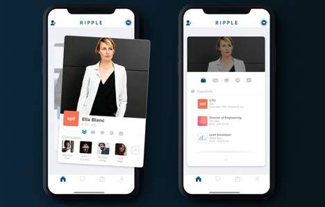 Dating-Inspired Networking Apps - Former Tinder Employees Created the Ripple App for Networking