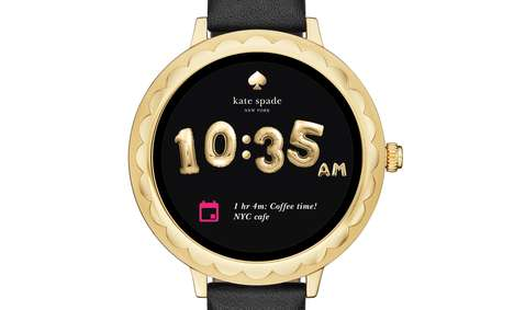 Fashionable Touchscreen Smartwatches - Kate Spade & Fossil Joined to Create New Custom Smartwatches