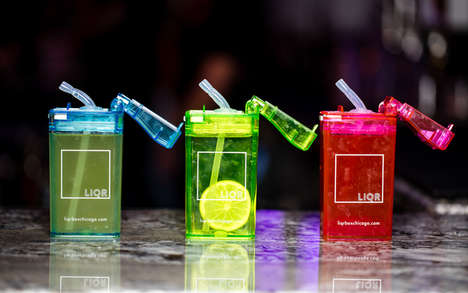 Eclectic Neon Bars - LiqrBox Serves Alcohol in Juice Boxes and Shots Out of Slot Machines