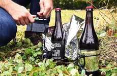 Nutrient-Rich Survival Beers - This Dogfish Head Craft Brewery Beer Includes a Knife, Rope & Blanket