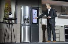 IOT Kitchen Appliances - The LG Instaview ThinQ Refrigerator is Updated With AI-Controlled Features