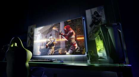 Large-Scale Ultra Monitors - The Nvidia BFGD is a High-End Monitor Tailored for Gaming