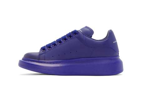 Bold Brushed Leather Sneakers - Alexander McQueen's Tonal Sneakers are Chic and Durable