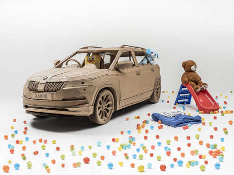 Cardboard Car Campaigns - SKODA is Celebrating the Release of the SKODA Karoq With a Paper Replica