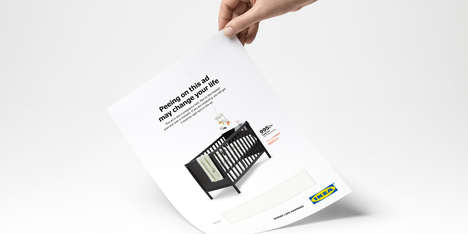 Functional Pregnancy Test Ads - IKEA Debuted a New Ad That Doubles as a Pregnancy Test