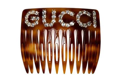Rhinestone Embellished Combs - The New Gucci Comb Puts a Designer Twist on the Ordinary