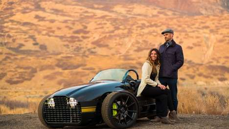 Electric Three-Wheeled Coupes - The Vanderhall Edison was Unveiled by the Company at CES 2018