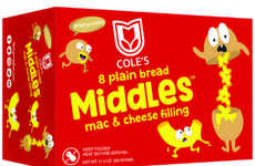 Breaded Macaroni Bites - Cole's 'Middles' are Frozen, Cheese-Filled Bread Snacks