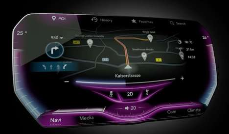 Tactile Automotive Displays - The 3D Touch Surface Display Has Bumps & Grooves for Comfortable Use