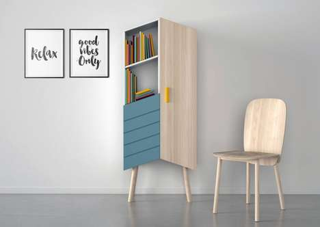 Angular Modernistic Storage Cabinets - The Moak Studio 'Tilbo' Boasts a Chic Pitched Top