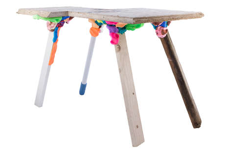 Playful Furniture Adhesive - Stephen Johnson's Synthetic Dough is Colorful and Practical