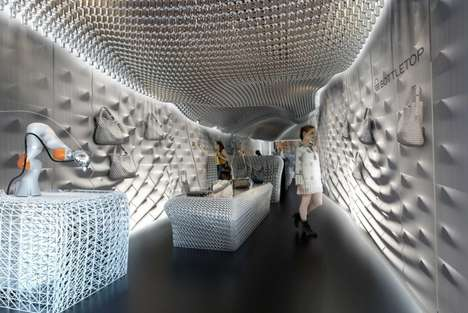 3D Printed Store Interiors - Bottletop's New Store Was Made Using 60,000 Plastic Bottles