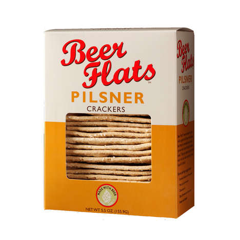 Craft Beer Crackers - Beer Flats' Pilsner and Porter Crackers Reference Dark and Light Beer Flavors