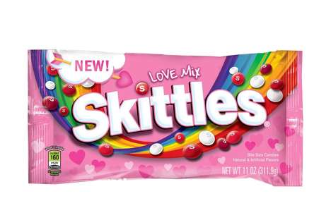 Romantic Candy Mixes - Skittles' New 'Love Mix' Helps Consumers Celebrate Valentine's Day