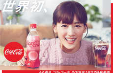 Remixed Peach-Flavored Sodas - Coca-Cola Japan Released It's First Peach-Flavored Coke