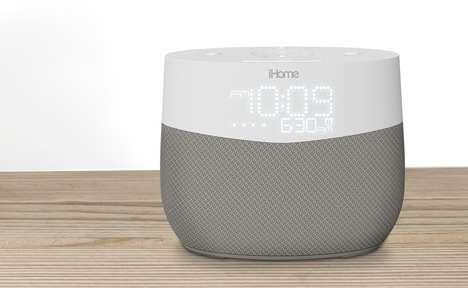 Voice Assistant Clock Radios - The iHome iGV1 Integrates Google Assistant into Your Morning Routine
