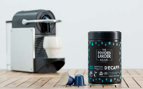 Biodegradable Coffee Capsules - The Foodies Larder Decaf Coffee Capsules are Compostable