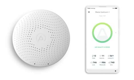 Indoor Air Quality Monitors - 'Airthings' Track Radon and Air Quality Levels in One's Home