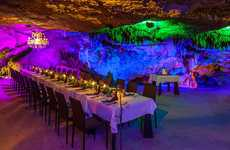 Cavernous Underground Bars - 'Alux Restaurant and Lounge' is in a Naturally Extant Cavern