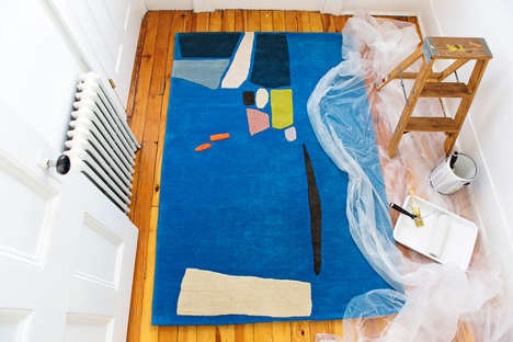 Abstract Scenic Rugs - 'Take Me Back to Formentera' Recreates European Scenes on Floor Coverings