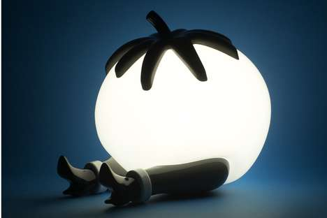 Comical Tomato Lamps - Case Studyo Released Another Edition of the Classic 'Give Up' Lamp