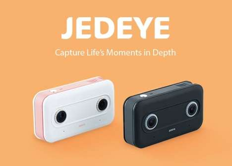 Wearable 3D Content Cameras - The 'Jedeye' 3D Wearable Camera Captures Stereo Footage Seamlessly