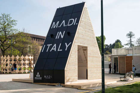 Solar-Powered A-Frames - 'M.A.Di' is a Solar-Powered Structure That Can Be Built in Hours