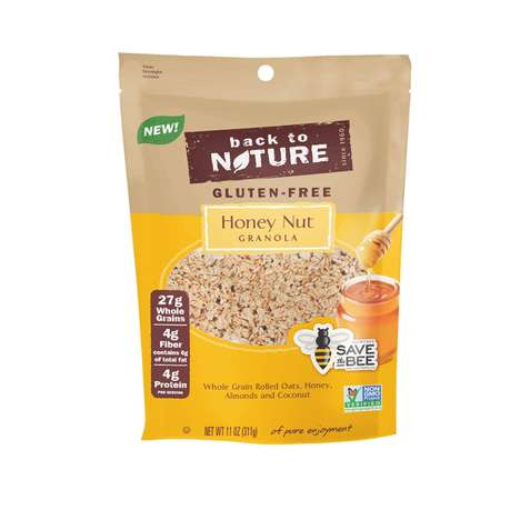 Bee-Saving Honey Granolas - Back to Nature Foods' Gluten-Free Honey-Nut Granola Helps Save the Bees