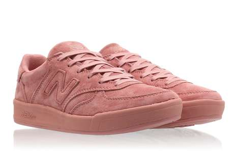 Springlike Suede Sneakers - These Peach-Colored Suede Sneakers by New Balance Have a Cheery Colorway