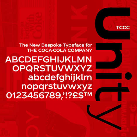 Soda Brand Typefaces - Coca-Cola's 'TCCC Unity' Typeface Was Designed by Neville Brody