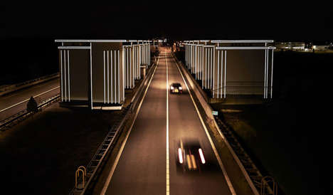 Dike-Illuminating Artwork - These Sustainable Art Installations Highlight Iconic Architecture