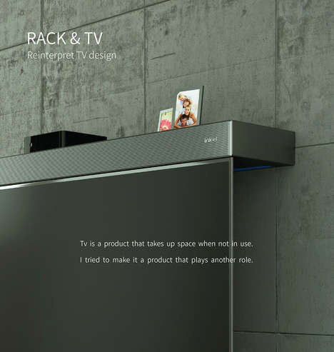 Shelf-Integrated TV Sets - The Inkel 'Reinterpret' TV Doubles as a Shelf to Increase its Purpose