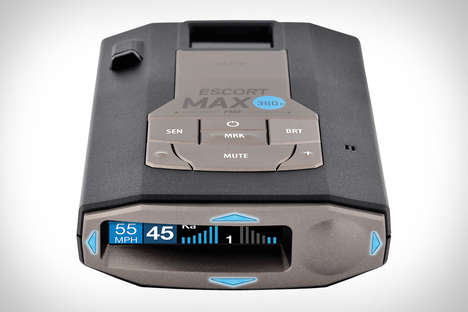 Speed Trap-Spotting Devices - The Escort Max 360c Connected Radar and Laser Detector is Handy
