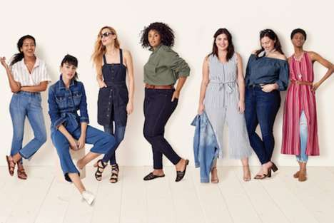 Inclusive Denim Collections - Target's Universal Thread Line is Size-Inclusive and Affordable