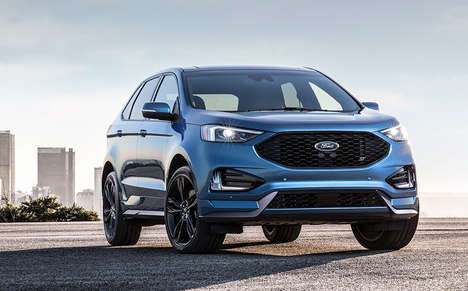 Supercharged American Crossovers - The 2019 Ford Edge ST Boasts 335 Horsepower and Much More