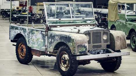 Celebratory Restored Cars - A Restored Original Land Rover Celebrates the Brand's 70th Anniversary