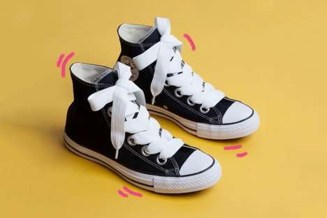 Quirky Oversized Sneaker Laces - Converse Has Released the Quirky 'All Star Big Eyelets Ox' Sneakers