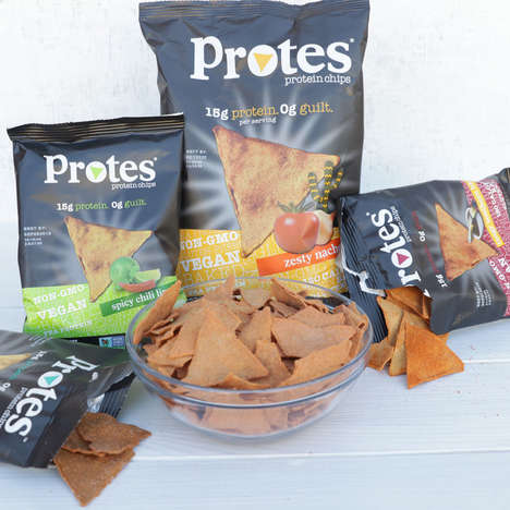 Protein-Packed Snack Chips - The Protes Chips Contain 15 Grams of Protein Per Serving