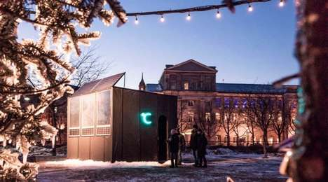 Solar-Heated Igloos - Montreal's Igloofest Featured Temporary Winter Home 'Celcius'
