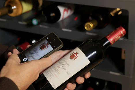 Smart Wine Racks - The Caveasy One Uses Mobile Tech and Sensors to Keep Track of Bottles of Wine