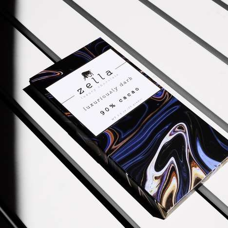 High-Cacao Chocolate Bars - Zella Specializes in Luxurious Dark Chocolate Bars with Exotic Add-Ins