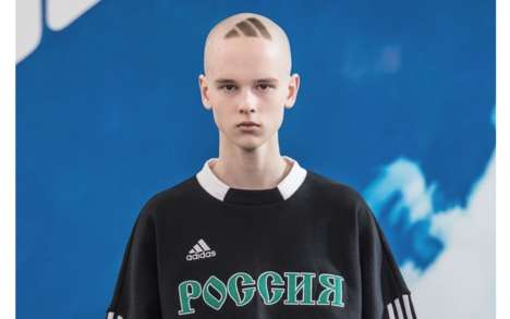 Logomania Soviet Fashion Shows - The Gosha Rubchinskiy Fall 2018 Collection Spotlights adidas Logos