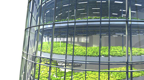 Farm-Integrated Buildings - Plantagon's World Food Building Has a 60-Meter Vertical Urban Farm